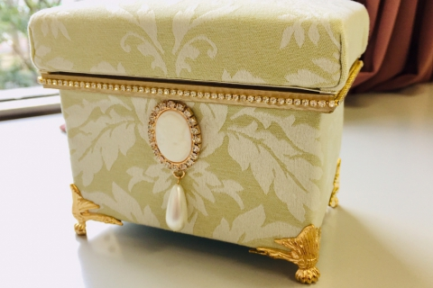 Make a Cute Mini Tea Box from Imported Fabric!