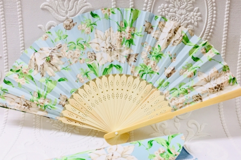 Make a Japanese Hand Fan from Imported Fabric!