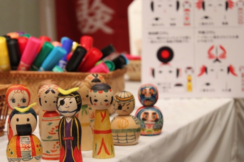 Decorate a Miniature Kokeshi Doll