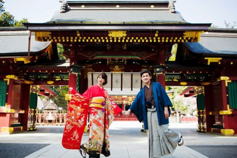 Wedding Photo Session in Gorgeous Kimono ♪ Create lifelong memories at Japanese style gardens, shrines and temples!