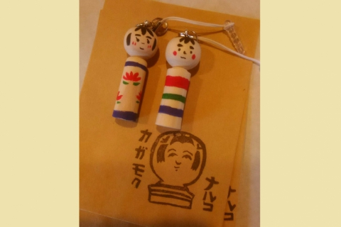Carve and Paint Baby Kokeshi Doll Experience inside a Naruko Kokeshi Cafe!