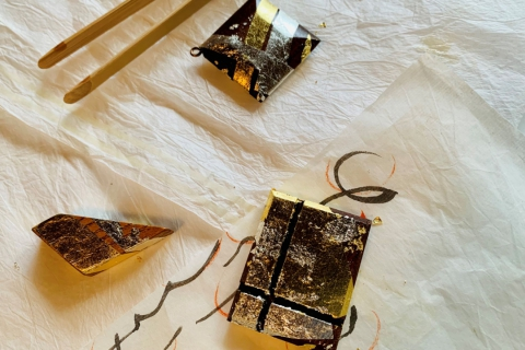 Gold Leaf Pasting Experience & Tea Ceremony at Mogasakian Teahouse